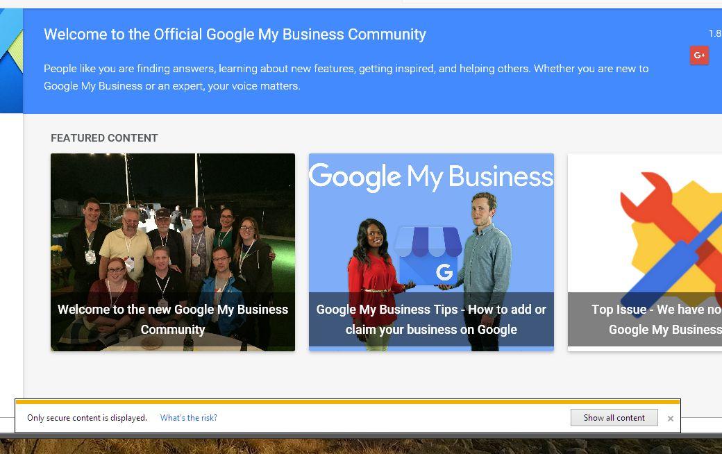 Google My Business Community Screenshot