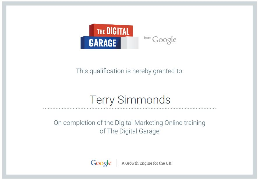 Google Digital Marketing Online Training Certificate