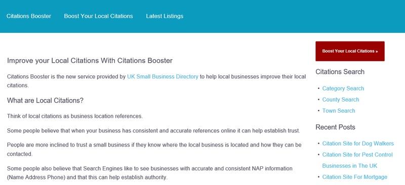 UK Citations Sites